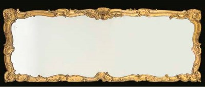 A FRENCH CARVED GILTWOOD AND G