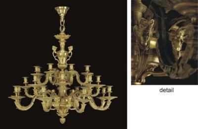 A large gilt bronze twenty-fou