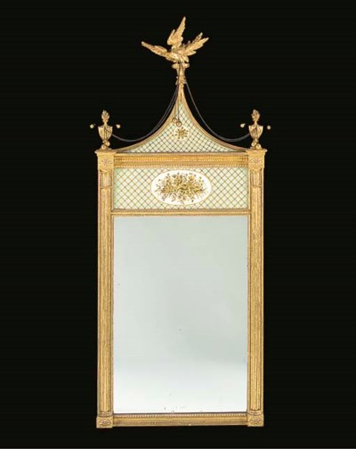 A REGENCY GILTWOOD AND VERRE E