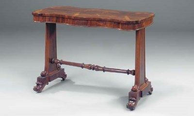 AN EARLY VICTORIAN ROSEWOOD SE