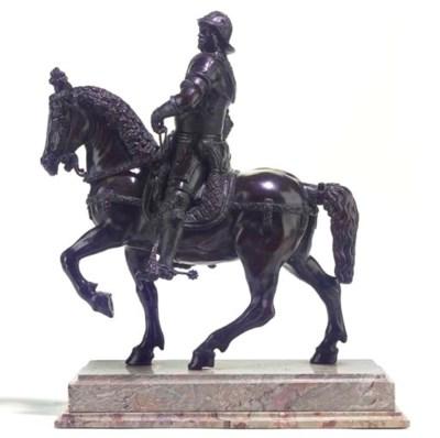 A bronze model of the Colleoni