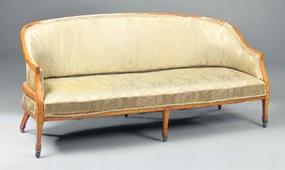 AN EDWARDIAN SATINWOOD AND LIN