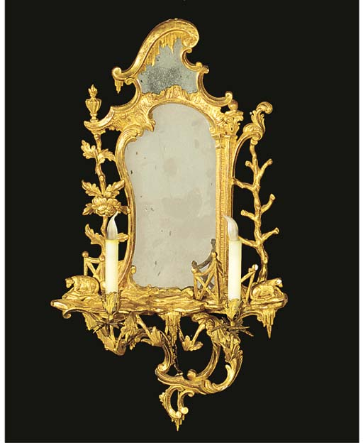 A CARVED GILTWOOD AND GESSO GI