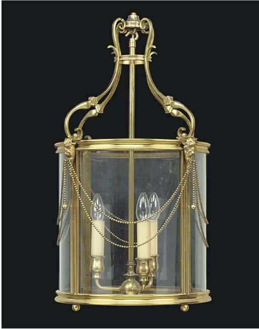 A brass hall lantern