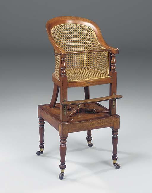 A Victorian mahogany child's h