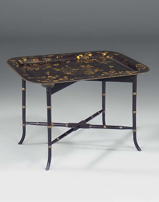 A Victorian ebonised and gilt