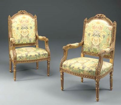 A pair of French giltwood upho