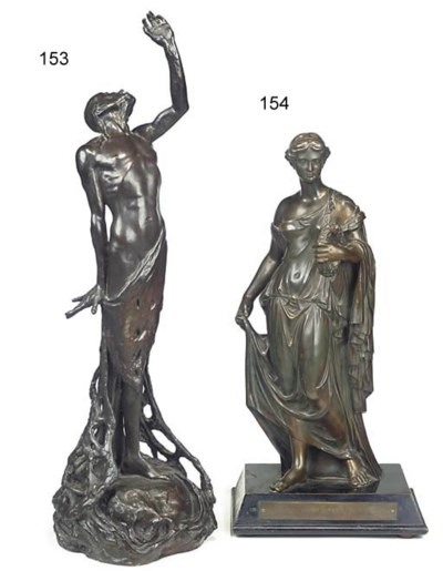 A bronze figure of the classic