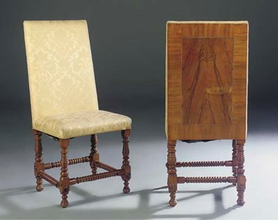 A PAIR OF GERMAN WALNUT AND UP