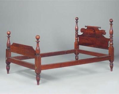 A mahogany bed