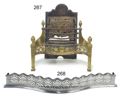 An Edwardian brass and steel f