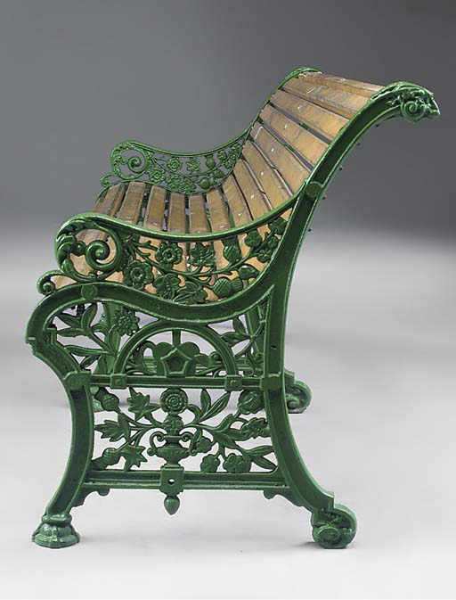 A victorian cast iron seat