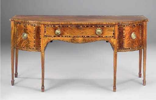 A GEORGE III MAHOGANY AND CALA