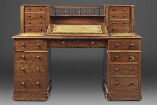 A Victorian mahogany desk