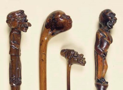 A COLLECTION OF FOUR CARVED WO