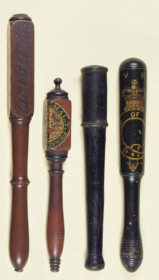 FOUR SMALL TRUNCHEONS