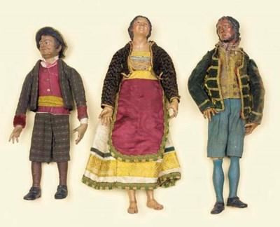 A group of three Neapolitan ca