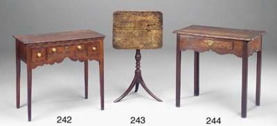 AN ENGLISH ELM SIDE TABLE