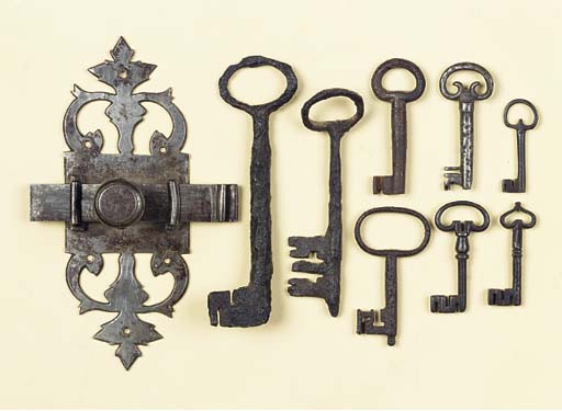 EIGHT MEDIEVAL AND LATER IRON