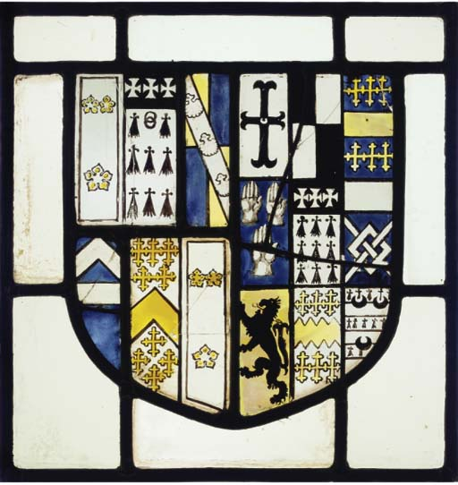 An English STAINED GLASS HERAL