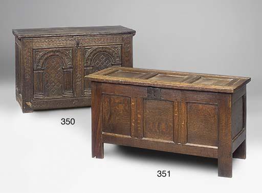 An English oak chest