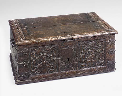A GERMAN OAK BOX