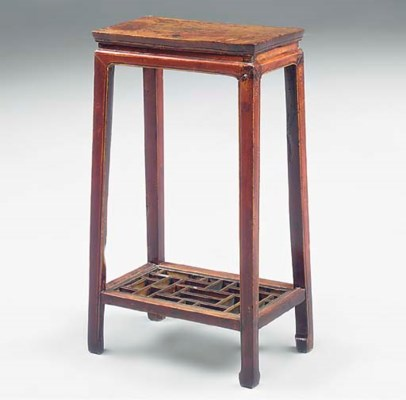 A Chinese stained hardwood ped