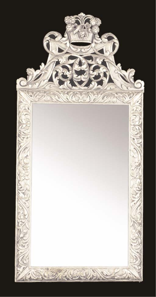 A PAIR OF SILVERED MIRRORS