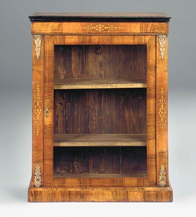 A WALNUT MARQUETRY AND GILT ME