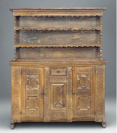A German carved oak dresser