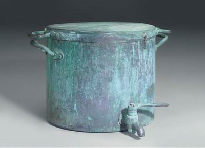 A LARGE VICTORIAN COPPER VAT A