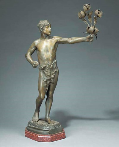 A French spelter figural lamp