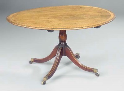 A MAHOGANY BREAKFAST TABLE