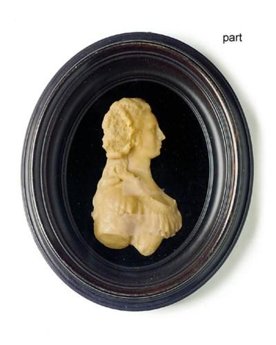 A GEORGE III PINK WAX PORTRAIT