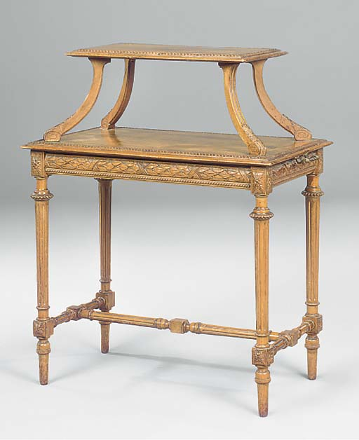 A late Victorian walnut etager