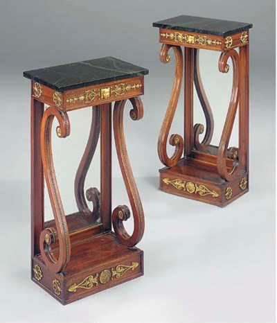 A PAIR OF GILT-METAL MOUNTED R