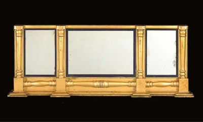 An early Victorian giltwood tr