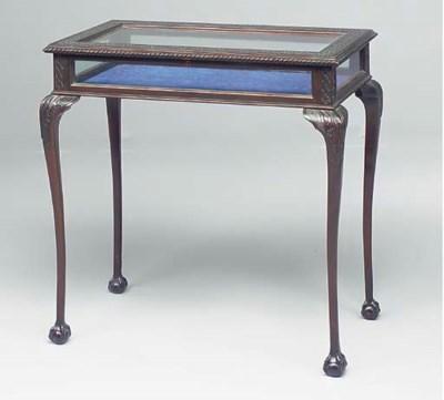 A mahogany bijouterie table