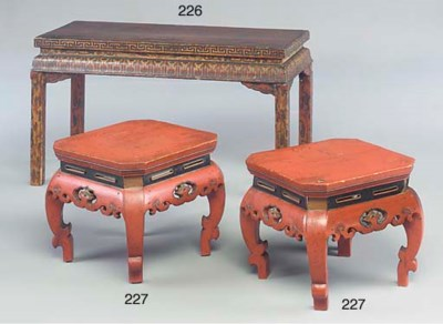 A Chinese lacquered low table