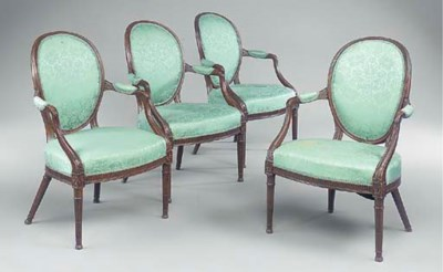 A set of four George III stain
