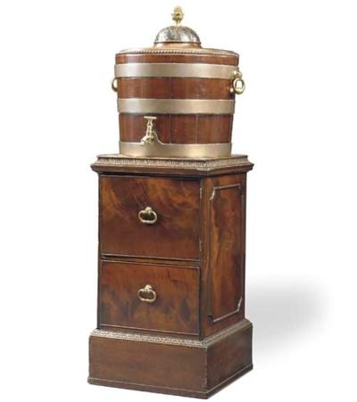 A George III brass-bound mahog