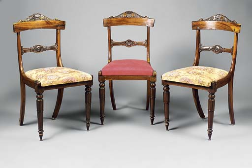 A set of three George IV gonca