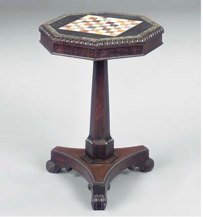 A ROSEWOOD AND MARBLE GAMES TA