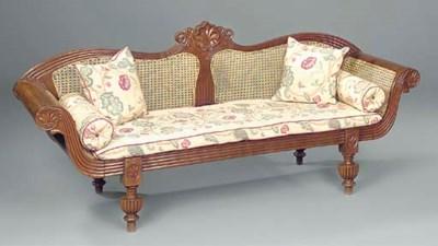 An Anglo Indian teak sofa