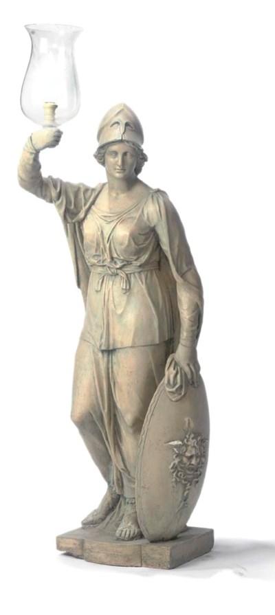 A Regency painted plaster figu