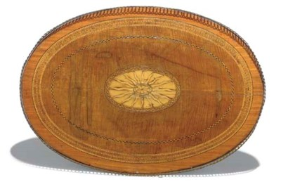 A GEORGE III SATINWOOD AND SYC