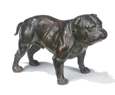 An Edwardian bronze model of a