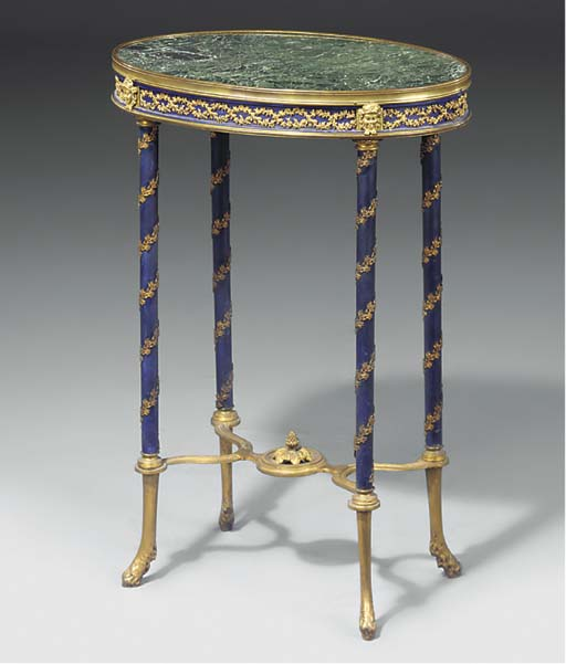A FRENCH GILT-METAL MOUNTED BL