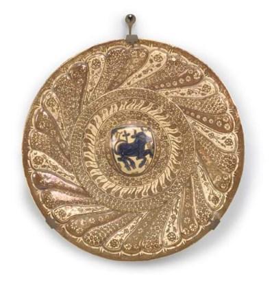A Hispano-Moresque copper-lust