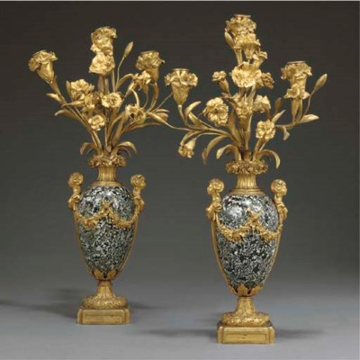 A pair of French ormolu mounte